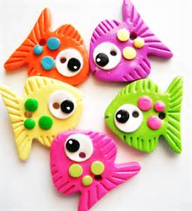 Handmade Polymer Clay - button big fish handmade polymer clay buttons 5