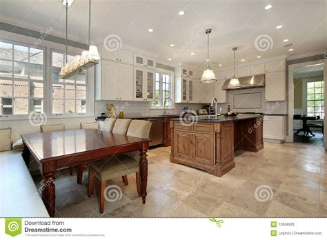 eating area kitchen with eating area and bench royalty free stock