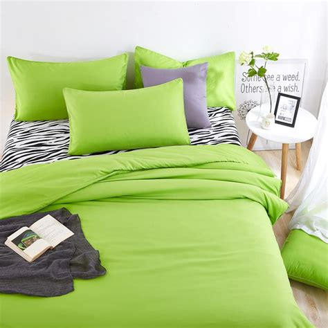 summer bed sheets summer bedding sets green and zebra striped bed sheet