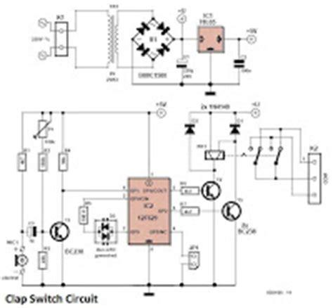 Bohlam Saklar Sensor Tepuk rangkaian saklar tepuk clap switch circuit