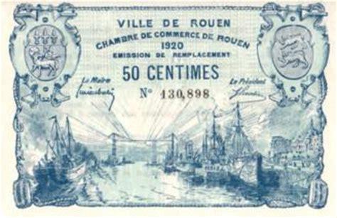 rouen 1920 billet de n 233 cessit 233 de la chambre de commerce