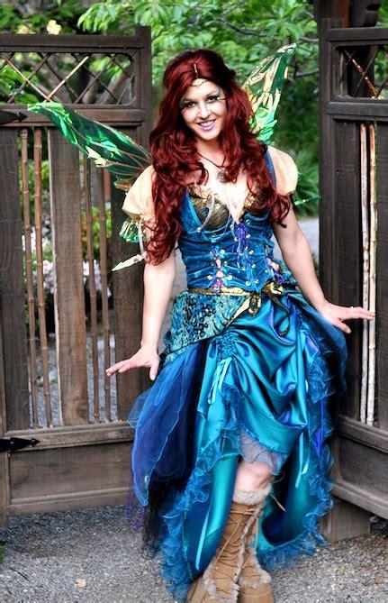 fire pixie fashion peacock fairy costume dress