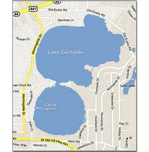 map mount florida map of lake gertrude mount florida