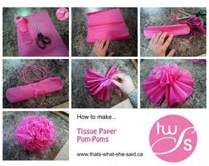 How Make Pom Pom Tissue Paper - best 25 paper decorations ideas on