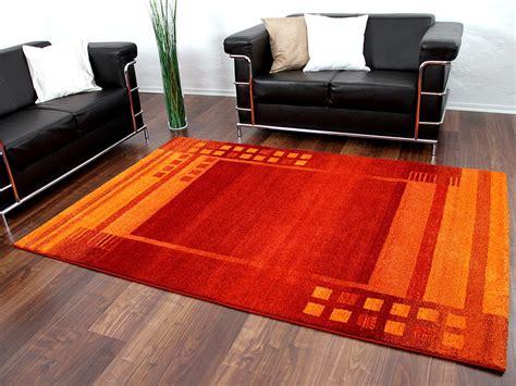 teppich orange designer teppich gabbeh rot orange bord 252 re