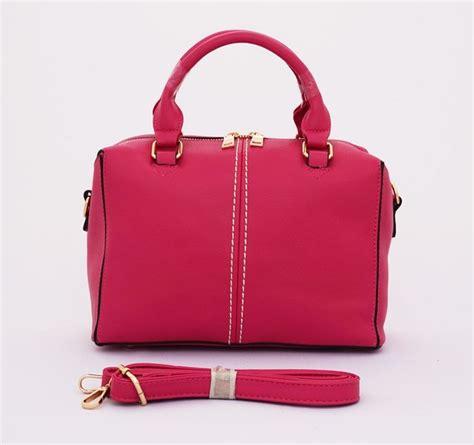Kalung Tali Pink Etnic Korea bernice office korean bag cantik trendy bisa tenteng dan tali panjang selempang warna