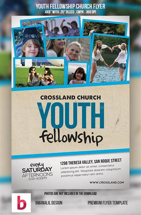 Youth Fellowship Church Program Church Template And Youth Programs Youth Flyer Templates
