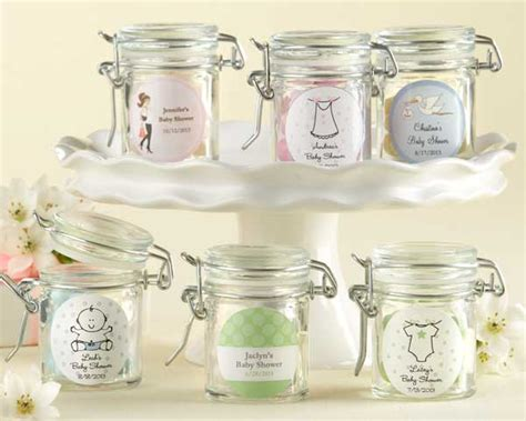 Jars For Baby Shower by Personalized Glass Favor Jars Baby Shower Favors