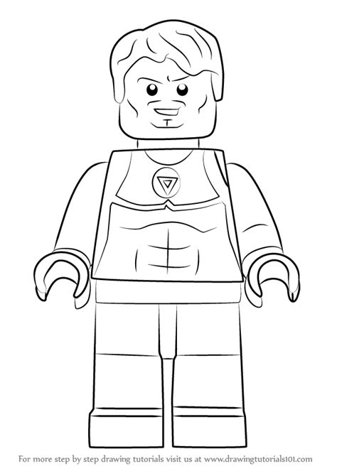 learn how to draw lego tony stark lego step by step