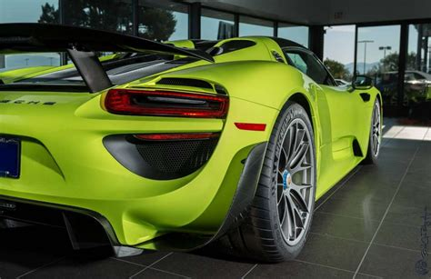 porsche 918 acid green quot acid green quot porsche 918 spyder looking for owner