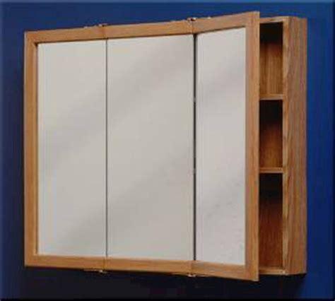 "Zenith 24"" Oak Tri view Medicine Cabinet at Menards®"