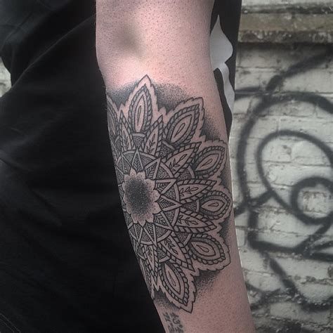 mandala tattoo forearm forearm mandala dotwork best ideas gallery