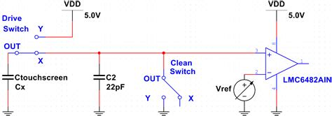 how to discharge capacitor in circuit ee16a touchscreen lab3