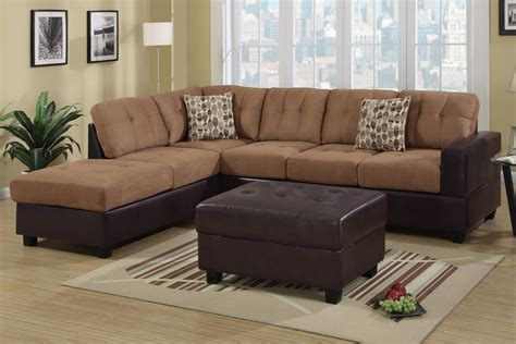 Faux Leather Sectional Sofa by Hagan Saddle Faux Leather Sectional Sofa A Sofa