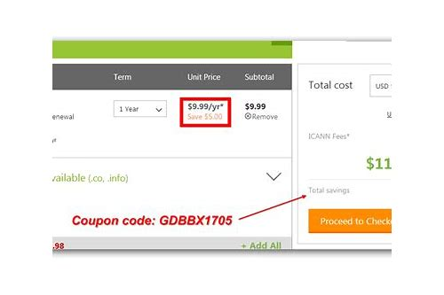 godaddy coupon codes renewal