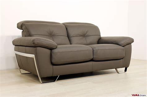 pelle divani divano moderno in pelle 2 e 3 posti con poggiatesta relax