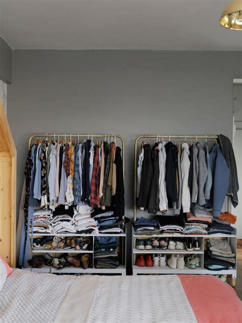 room with no closet 12 no closet clothes storage ideas room makeovers to suit your hgtv