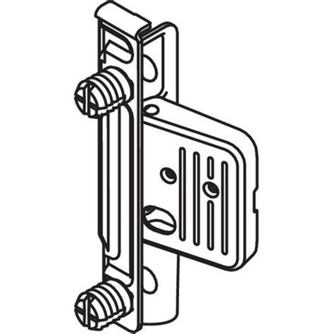 Blum Zsf 130e Metabox Right Hand Clip Front Fixing Bracket