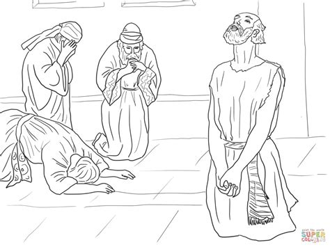 job prays to god coloring page free printable coloring pages