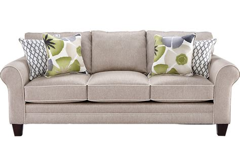 rooms to go pillows lilith pond taupe sofa sofas beige