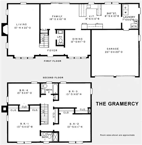 center colonial floor plan center colonial home floor plans home plan