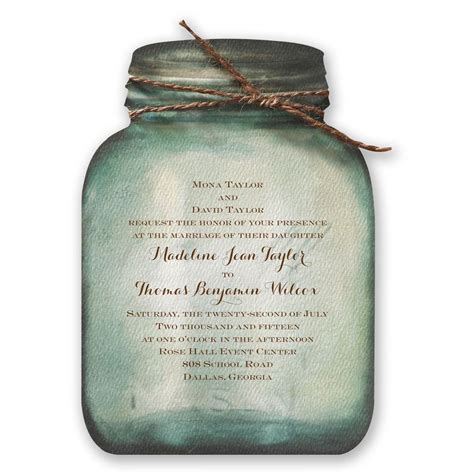 jar wedding invites country canning jar invitation invitations by