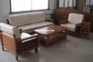 Sets 3 2 1 design teak wooden sofa set intended for wooden sofa set