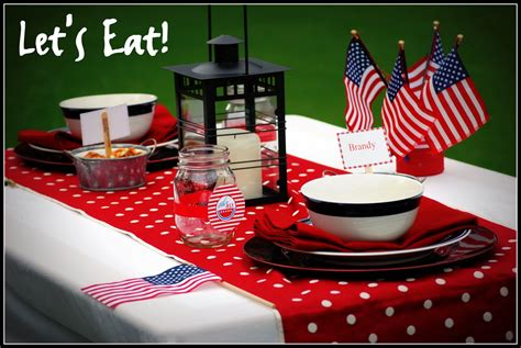 4th of july table great 4th of july table settings