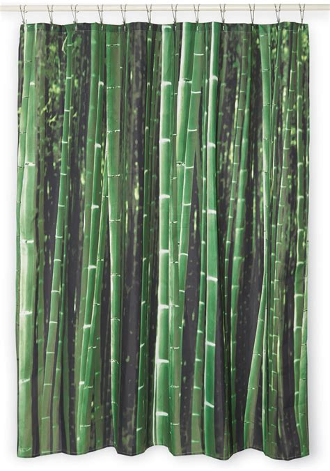 kikkerland shower curtain beyond the grove shower curtain in bamboo mod retro