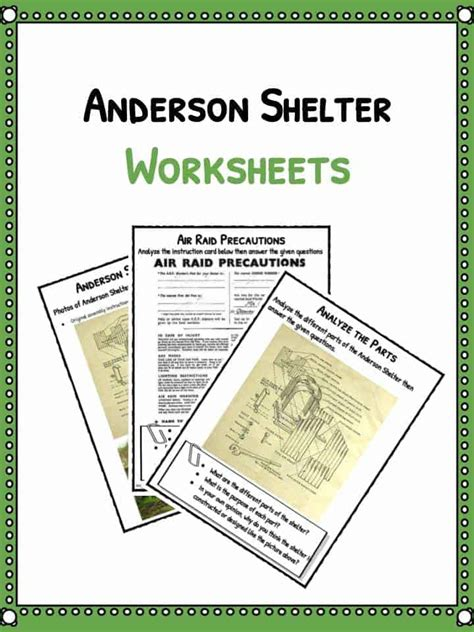 shelter template card shelter facts worksheets study material resource