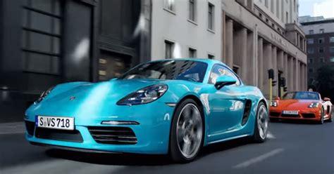 Porsche Boxster S Vs Cayman S by Porsche 718 Cayman S Vs 718 Boxster S Promo Video Dpccars