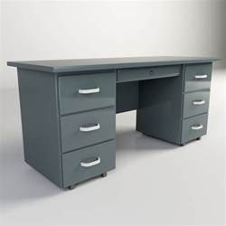 Metal Office Desk Steel Office Desk 3ds