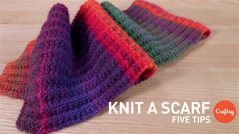 how to knit a bandana how to knit a scarf 5 tips for beginners craftsy