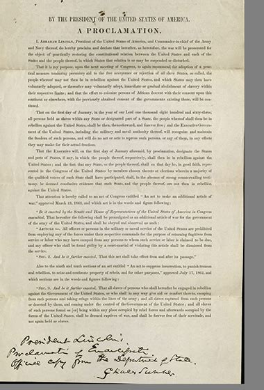 The Emancipation Proclamation now | Harvard Gazette Emancipation Proclamation Actual Document