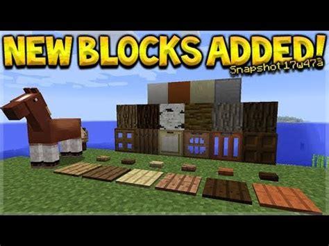 new blocks added!! minecraft 1.13 update snapshot 17w47a