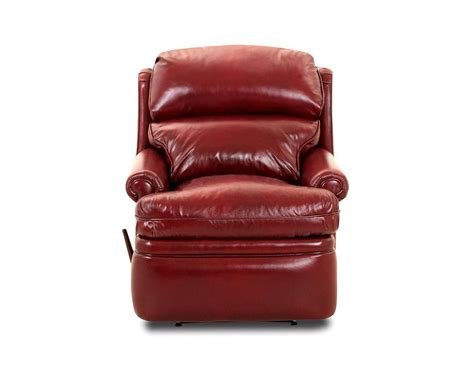 red recliners red leather recliiner american made classic club recliner