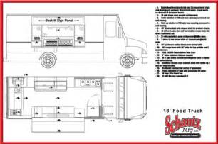food truck floor plans schantz food truck floorplans