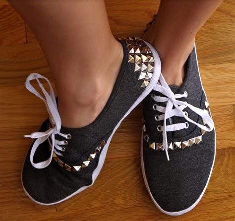 diy canvas shoes diy studded canvas sneakers pumps iron
