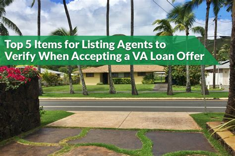top 5 items for listing agents to verify when accepting a