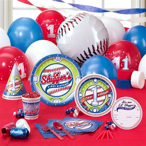 baseball themed first birthday party activities at each quot little slugger s quot 1st birthday party theme birthday