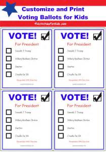 ballot paper template free printable ballots for classroom voting ballot
