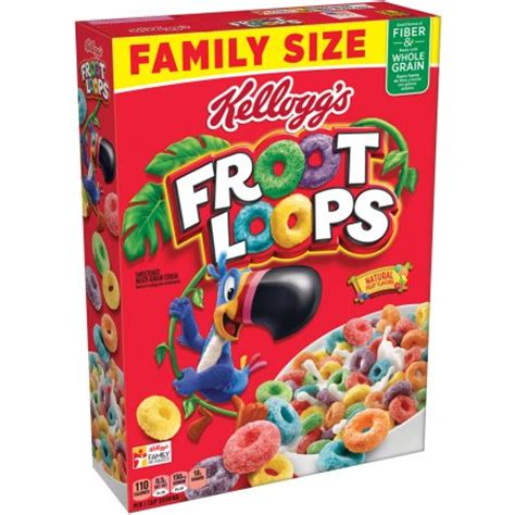 whole grain kellogg s cereal kellogg s froot loops whole grain cereal 21 7 ounce