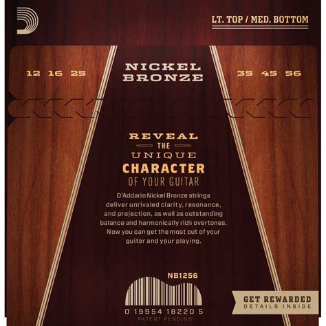light or medium guitar strings d addario nickel bronze acoustic guitar strings light 12