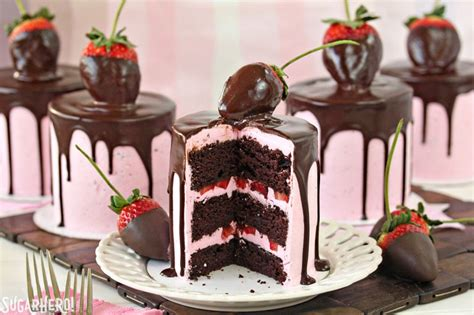 Strawberry Chocolate This Month by Chocolate Covered Strawberry Cakes Sugarhero