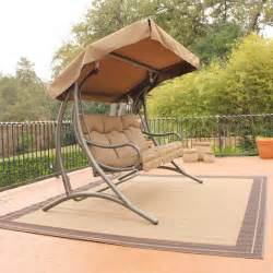 patio swing set with canopy santa fe glider canopy swing set traditional