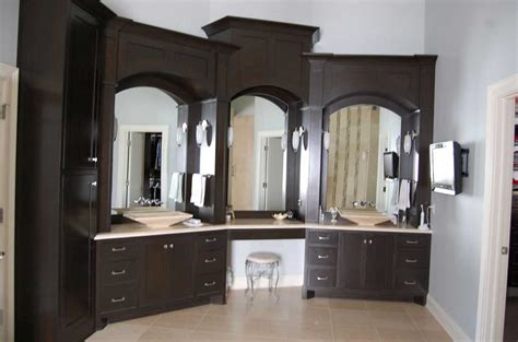 Ideas For Bathroom Cabinets by Custom Made Bathroom Cabinets In Black Finish Home