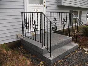 Exterior Handrail Kits For Stairs by Beautifying House With Iron Stair Railing Interior