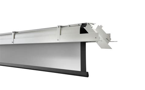 ceiling recessed projector screen celexon ceiling recessed electric expert cree 220x165 matt white ceiling recessed projector screen