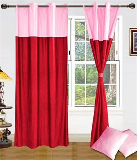 red and pink curtains samyak red pink designer curtain 1pc pur144 1 buy