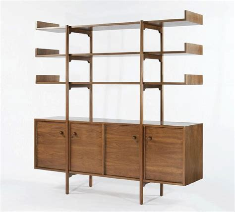 mid century room divider and shelf mcm credenza